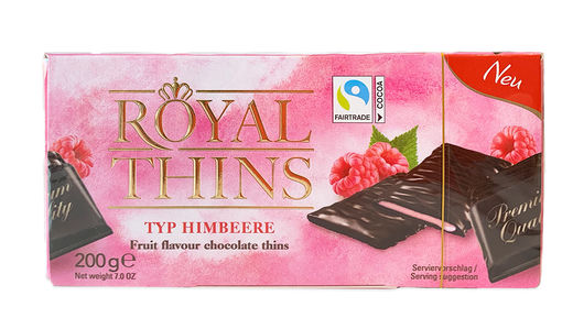 Royal Thins  Vadelma 200 g