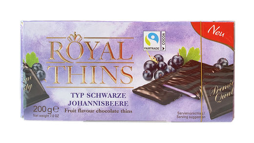 Royal Thins Mustaherukka 200 g