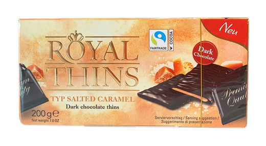 Royal Thins Salted Caramel 200 g